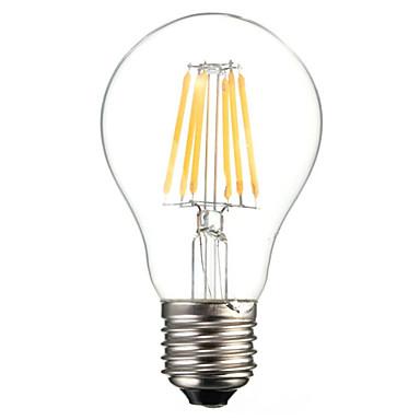 halpa LED-pallolamput-HRY 1kpl 6 W LED-hehkulamput 560 lm E26 / E27 A60(A19) 6 LED-helmet COB Koristeltu Lämmin valkoinen Kylmä valkoinen 220-240 V / 1 kpl / RoHs