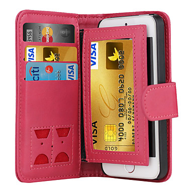 Case For iPhone 5 Apple iPhone X iPhone X iPhone 8 iPhone 5 Case Card Holder Wallet Flip Full Body Cases Solid Color Hard PU Leather for