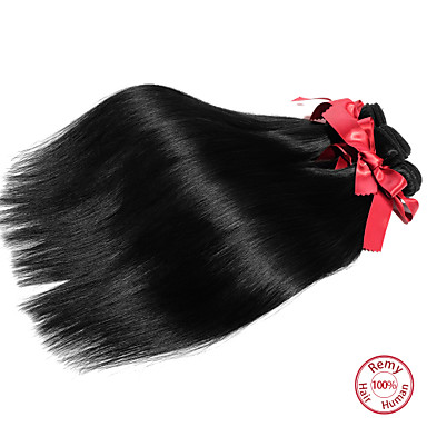 Malaysian Classic Straight Human Hair Weaves 1 Piece High Quality 0.05 Daily