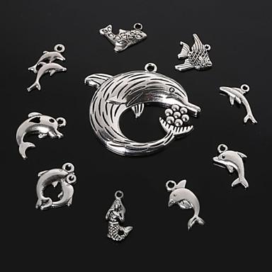 beadia antiikki hopea metalli delfiini hai merenneito kala viehätys riipuksia DIY koruja riipus 10 tyylejä