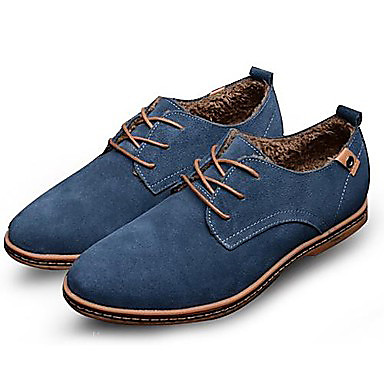 Men's Leather Shoes Suede Spring Slip / Fall Comfort Oxfords Slip Spring Resistant Black / Brown / Blue / Party & Evening / Suede Shoes / Novelty Shoes 345839