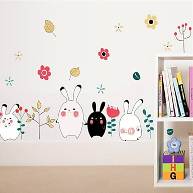 Decorative Wall Stickers - Plane Wall Stickers Animals / Cartoon Living Room / Bedroom / Dining Room