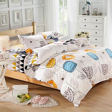 70dae63d mingjie® blå og gul tegneserie blomster dronning og dobbel størrelse  sliping sengetøy sett 4stk for