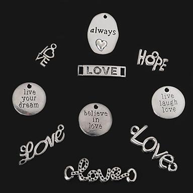 beadia antiikinhopeisia aina&rakkaus&toivo&elä naura rakasta&usko rakkauteen&elä unelmasi metalli viehätys