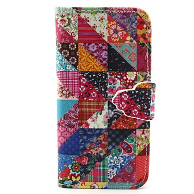 Mert iPhone 6 tok / iPhone 6 Plus tok Kártyatartó / Pénztárca / Állvánnyal / Flip / Minta Case Teljes védelem Case Mértani formák Kemény