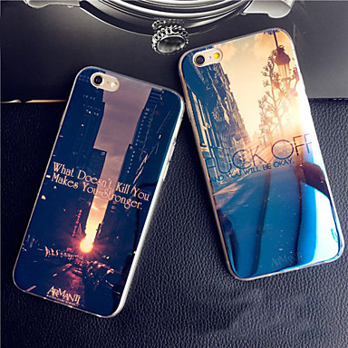 For iPhone X iPhone 8 iPhone 8 Plus iPhone 6 iPhone 6 Plus Case Cover Pattern Back Cover Case City View Soft Silicone for iPhone X iPhone