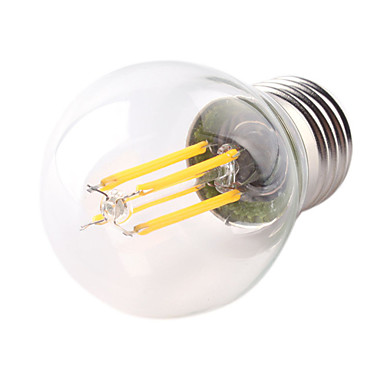 1pc 4W 360lm E26 / E27 LED-glødepærer G45 4 LED perler COB Dekorativ Varm hvit Kjølig hvit 220-240V