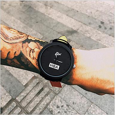 Pánské Náramkové hodinky Křemenný Kůže Černá Hodinky na běžné nošení Cool Analogové Módní - Bílá Černá Jeden rok Životnost baterie / Tianqiu 377