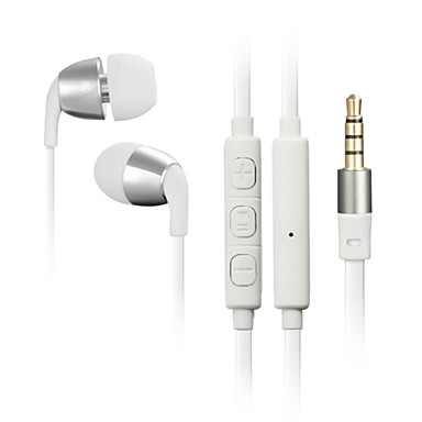 In Ear Wired Headphones Dynamic Plastic Mobile Phone Earphone with Microphone with Volume Control Headset