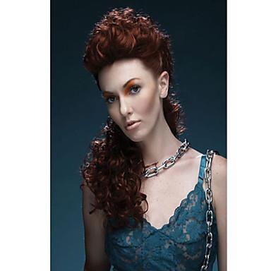 Sentetik Saç peruk Dalgalı Bonesiz Orta