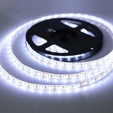 billige LED Strip Lamper-ZDM® 5 m Fleksible LED-lysstriper 300 LED SMD 2835 Varm hvit / Kjølig hvit / RGB Vanntett / Kuttbar / Selvklebende 12 V 1pc / IP65