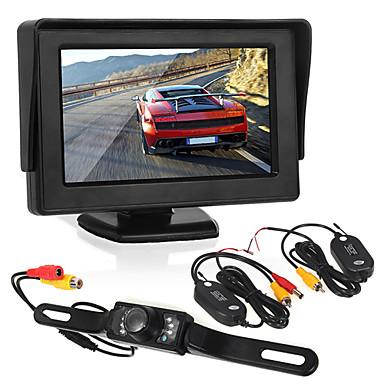 Monitoring cofania samochodu4.3 calowy wyświetlacz / led licencja kamery / nadajnik i odbiornik bezprzewodowy