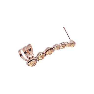 Naisten Tähti Kristalli Hopeoitu Gold Plated Timanttijäljitelmä Korva Käsiraudat - Muoti Hopea Kultainen Tähti korvakorut Käyttötarkoitus