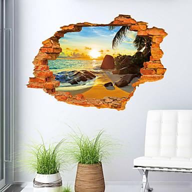 Manzara Romantizm Moda 3D Duvar Etiketler 3D Duvar Çıkartması Dekoratif Duvar Çıkartmaları, PVC Ev dekorasyonu Duvar Çıkartması Duvar