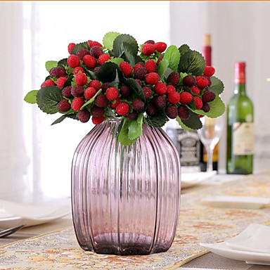 1 Branch Silk Plastic Fruit Lavender Tabletop Flower Artificial Flowers