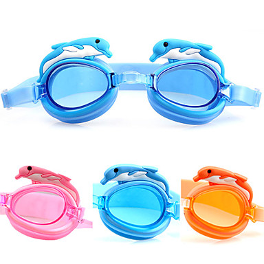 Swimming Goggles Anti-Fog Adjustable Size Waterproof Acetate Acrylic Pink Blue Orange Pink Blue Orange