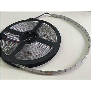 5m RGB Şerit Işıklar 300 LED'ler 5050 SMD RGB Uzaktan Kontrol / Kesilebilir / Kısılabilir 100-240 V / Su Geçirmez / Bağlanabilir / Araçlar İçin Uygun / Kendinden Yapışkanlı / Renk Değiştiren