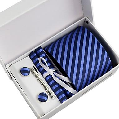 erkekler partisi / akşam işi kravat 5 adet kutu ile bir set (8cm)