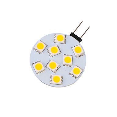 G4 LED Weglampen G45 9 SMD 5050 380 lm Warmes Weiß Dekorativ 9-30 V 4 Stück 3000