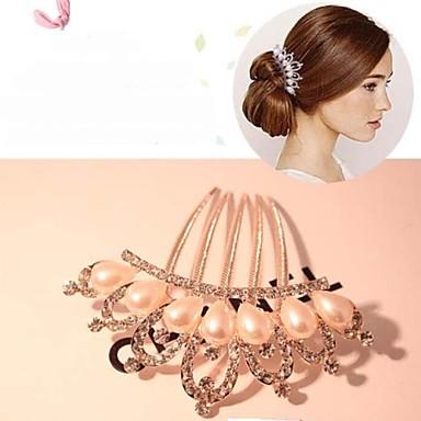 Alltag / Normal-Haarkämme(Aleación / Künstliche Perle / Strass)
