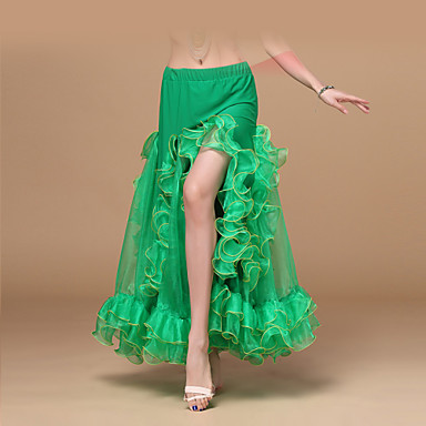 Belly Dance Bottoms Women's Training / Performance Chiffon Ruched Dropped Sexy Global Gals Skirt