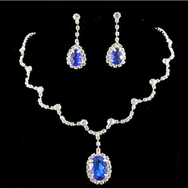 Komplet nakita Slatko Zabava Drago kamenje i kristali Kubični Zirconia Glina Legura Ispustiti Ogrlice Füllbevalók