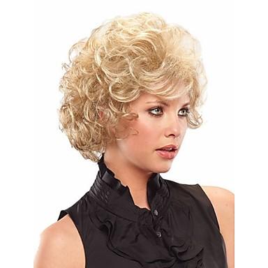Syntetiske parykker Krøllet Syntetisk hår Blond Parykk Dame Kort Halloween parykk / Karneval Parykk Lokkløs