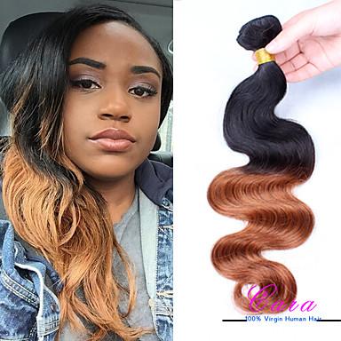 Peruvian Hair Body Wave Human Hair Weaves 1 Piece 0.3