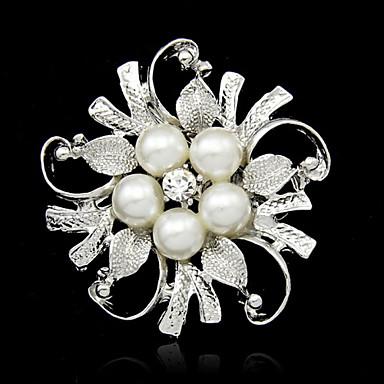 Damen Broschen - Perle Blume Modisch Brosche Weiß Für Alltag