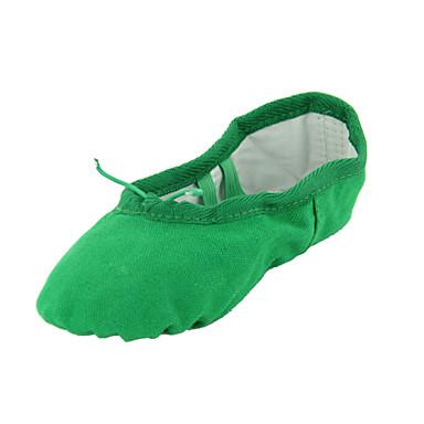 Tanssikengät - Vihreä - Vatsa / Baletti / Tanssitossut - Kanvas - Tasainen kanta -