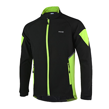 Arsuxeo Cycling Jacket Men's Bike Jersey Jacket Top Winter Fleece Bike Wear Thermal / Warm Windproof Anatomic Design Waterproof Zipper