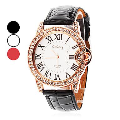 Kadın's Bilek Saati Büyük indirim PU Bant Işıltılı / Moda Siyah / Beyaz / Kırmızı / İki yıl / + 2025 Maxell626