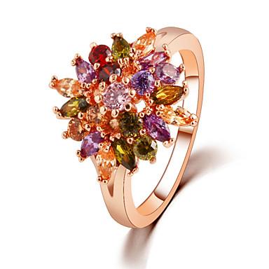 Mulheres Liga Spot de Luz Multi-Colorida Anéis de Casal - Spot de Luz Multi-Colorida Flor Anel Para Casamento Festa Diário