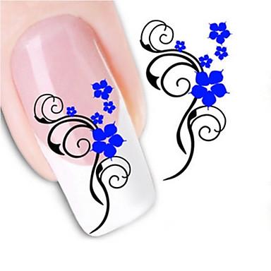 3D Nail Stickers - Muuta - Kukka / Abstrakti - Sormi - 10.5X7X0.1 - 1