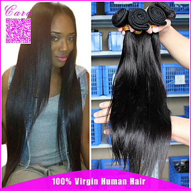 Indian Natural Color Hair Weaves Straight Hair Extensions 3 Pieces Black
