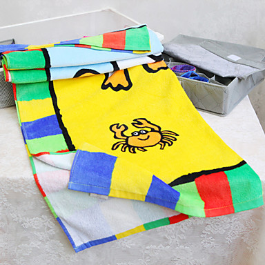 Frisk stil Strandhåndklæde Overlegen kvalitet 100% Bomuld Håndklæde