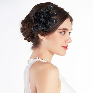 voordelige Hoeden-mooie tule huwelijk bruids zwarte bloem / corsage / hoofddeksel