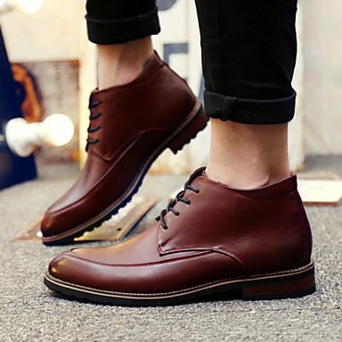 Men's Shoes Outdoor / Party & Evening / Athletic / Casual Leather Boots Black / Brown / Burgundy