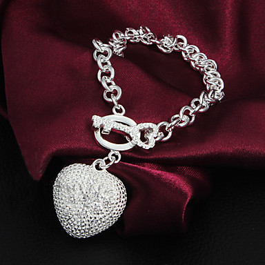 Women's Chain Bracelet Unique Design Fashion Silver Plated Silver LOVE Jewelry Wedding Party Casual Costume Jewelry