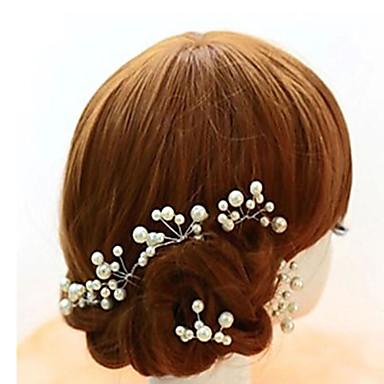 imitação de pérolas de liga de cabelo pino cabeça clássica estilo feminino