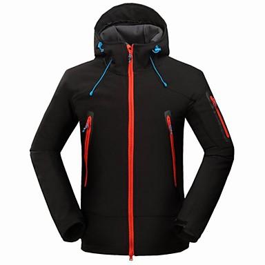Men's Hiking Jacket Outdoor Winter Waterproof, Thermal / Warm, Windproof Jacket / Winter Jacket / Top Camping / Hiking