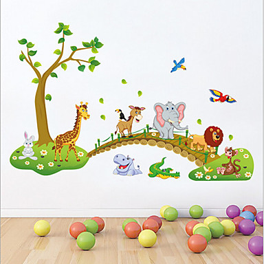Animals Still Life Cartoon Wall Stickers Plane Wall Stickers Decorative Wall Stickers, Vinyl Home Decoration Wall Decal Wall