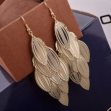 Women's Drop Earrings Alloy Leaf Jewelry Wedding Party Daily Casual