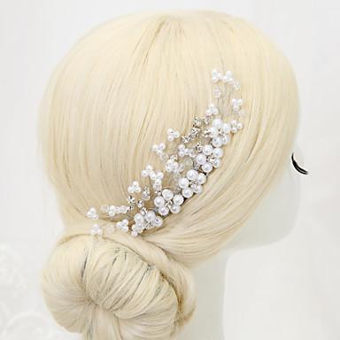 Imitação de Pérola Strass Liga Pentes de cabelo 1 Casamento Ocasião Especial Capacete