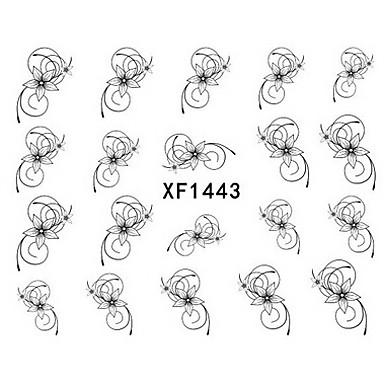 1pcs Transferência de água adesivo / Jóias de unha / Etiquetas de unhas 3D Modelo de estampa de unhas Diário Punk / Fashion / PVC