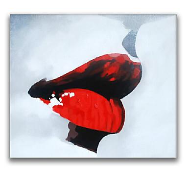 iarts® punaiset huulet naiset seinätaidetta muotiöljymaalaus