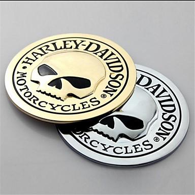 3d metal kafatası araba sticker araba çıkartma etiket moto motosiklet otomobil styling