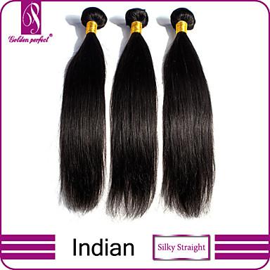 Υφάνσεις ανθρώπινα μαλλιών Ινδική Drept 3 Κομμάτια υφαίνει τα μαλλιά