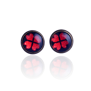Women's Stud Earrings Synthetic Gemstones Alloy Four Leaf Clover Jewelry Party Daily Casual Costume Jewelry