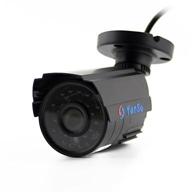 yanse® 1100tvl 2.8mm fém alumínium d / n CCTV kamera ir 24 vezetett biztonsági vízálló vezetékes 6624cq